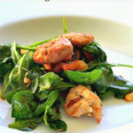 Wilted spinach salad with Grilled Chicken