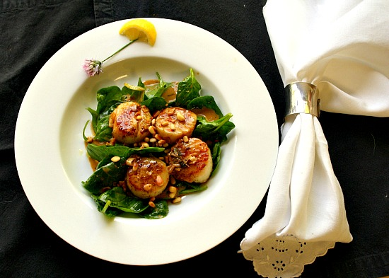 Seared Scallops with Butter Recipe