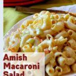 Dutch Amish Macaroni Salad Recipe