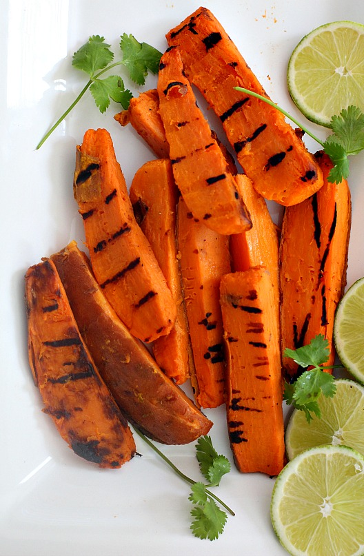 Bobby Flay Grilled Sweet Potatoes, a great side dish for your Summer meal.
