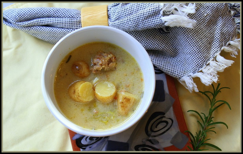 Fingerling Potato and Sausage Soup
