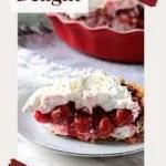 No bake cherry dessert with cream cheese