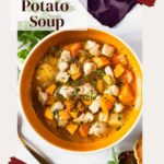Chicken sweet potato soup easy and inexpensive