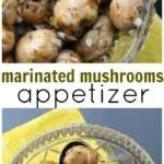 Easy mushroom appetizer recipe. Marinated in citrus, orange juice and orange zest.