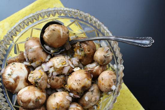 Easy mushroom appetizer recipe. Marinated in citrus.