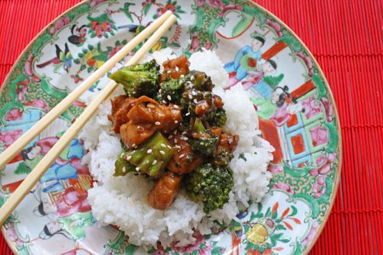 Easy weeknight dinner idea. Chicken broccoli stir fry recipe.