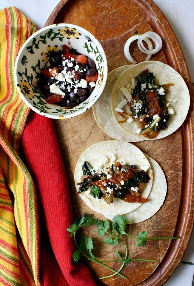 Easy and healthy Vegetarian Tacos. These vegetarian swiss chard tacos are a surprisingly delicious treat.