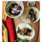 vegetarian tacos with swiss chard