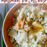 Poblano and chive mashed potato recipe