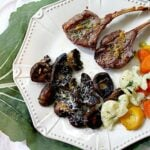 Grilled Mushrooms and Lamb Dinner
