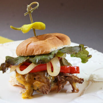 Roast Beef Sliders, crock pot and crowd pleasing recipe.