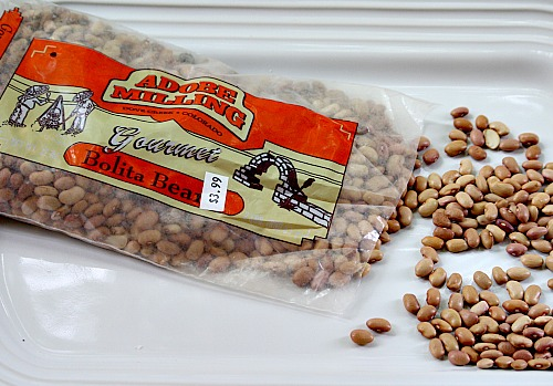 Bolita Beans with Jalapeno and Red Wine. A great western themed side dish.