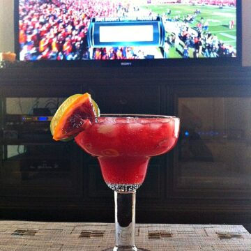 Superbowl drink, Blood Orange Margarita
