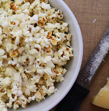Brown Butter Parmesan Popcorn