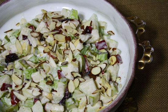 Pear Salad with celery and mayonnaise