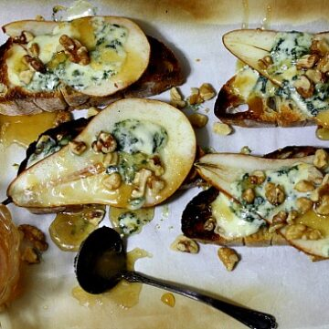 Pear Blue Cheese appetizer
