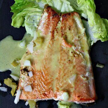 Salmon with vinaigrette