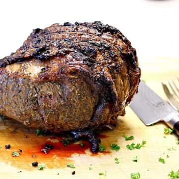 Instructions for cooking a prime rib roast for 2 or 4 people. 4 Rib prime rib.