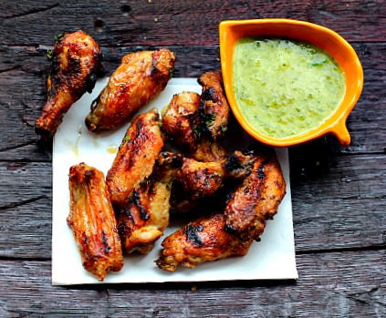 As if the Honey Butter and Horseradish weren't enough deliciousness for these grilled wings, we add a parsley puree to finish. Making this one special grilled chicken wing recipe that you must try soon.
