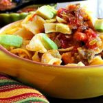 Sausage noodle Mexican breakfast casserole with cream of mushroom soup