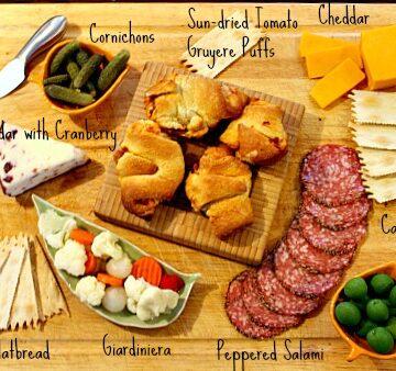 how to arrange an appetizer platter