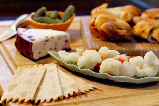 how to arrange a cheese sausage olive platter