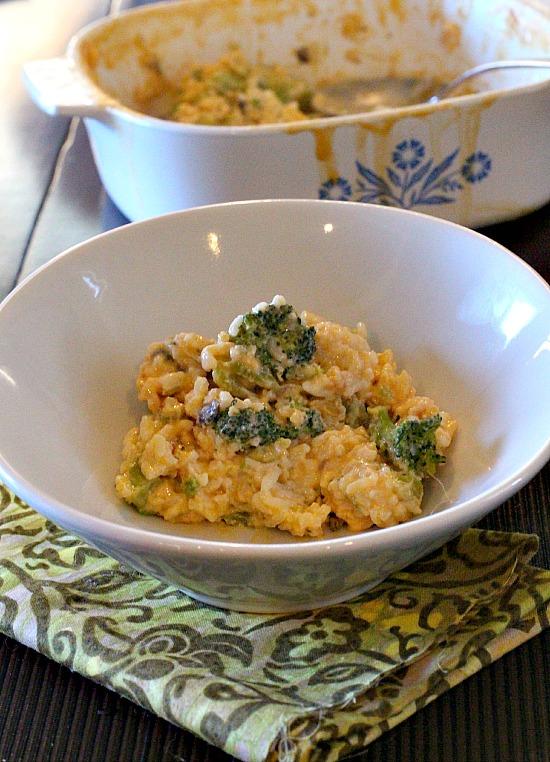 Old fashioned broccoli cheez whiz rice casserole recipe