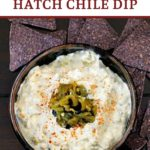 Hatch Chile Dip made with cream cheese