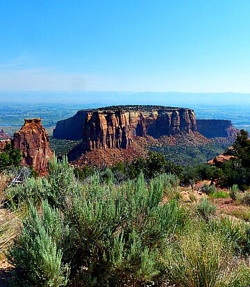 Sagebrush and Mesa at Colorado National Monument