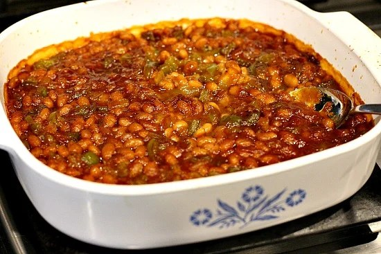 Baked Beans made with Pork and Beans