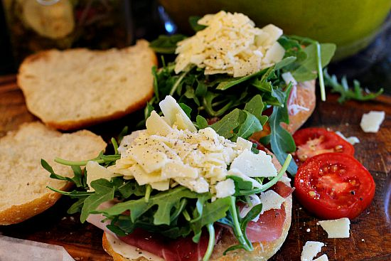 Great picnic sandwich for a bottle of chardonnay