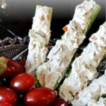 Cream Cheese and Olive Celery Sticks Appetizer