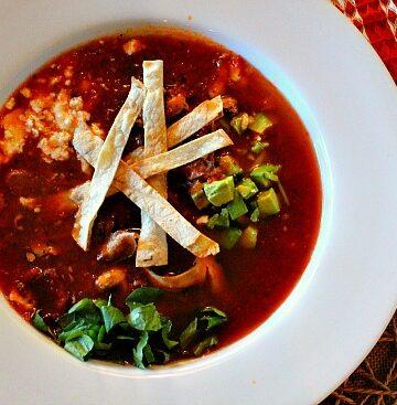 Vegetarian Mushroom Tortilla Soup