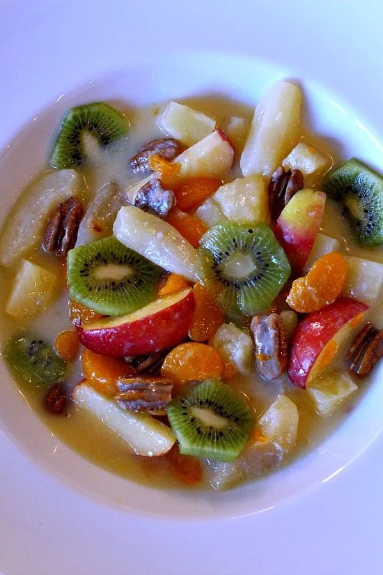 Festive Winter Fruit Salad, a great fruit salad for Winter months.