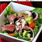 Steak Salad with Chipotle Glaze and greens