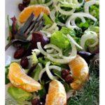 Fennel orange tossed salad with olives