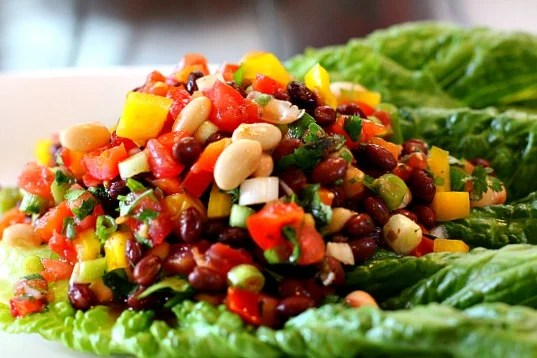 Cucina Bean Salad. A side dish to show off the colors of Summer