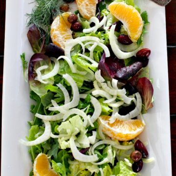 Orange and Olive Salad. A refreshing side dish for any main course