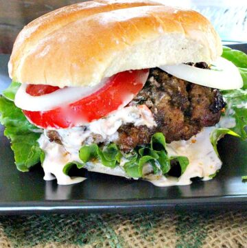 Taco Burger with Salsa Aioli