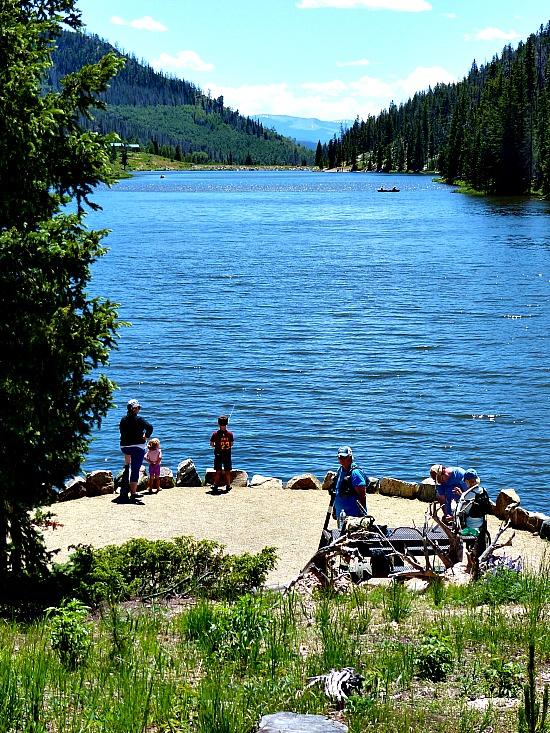 Best picnic spot near Steamboat Lake. Hahns peak picnic area.