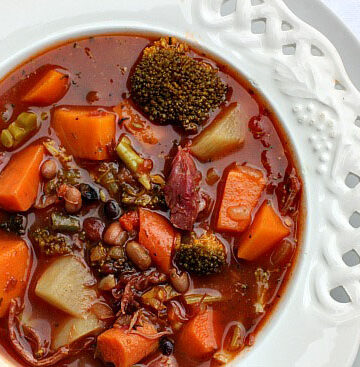 The best bean and vegetable soup. Full of flavor and so healthy