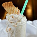 Banana brown sugar milkshake recipe. A decadent banana dessert idea.