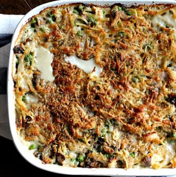 Chicken pasta casserole recipe without canned soup. Is there anything better than Tetrazzini?