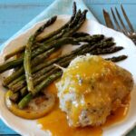 Easy chicken dish for entertaining. Elegant chicken cordon bleu with Apricot Brandy Sauce