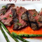 grilled ribeye steak with spicy mustard sauce