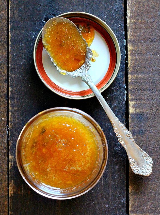 How to make a gastrique sauce. Peach and Basil Gastrique sauce for Pork Tenderloin.