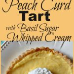 Fresh Peach Dessert. Peach Curd with Basil Sugar Whipped Cream