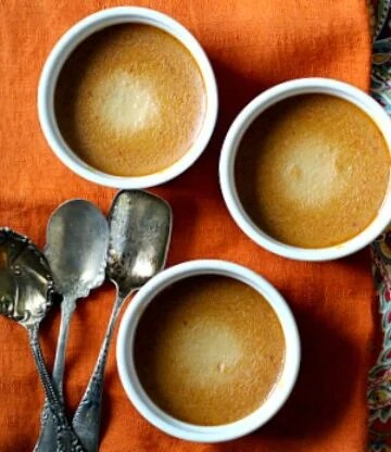 Pots au creme Pumpkin custard cream dessert recipe.