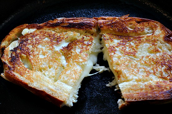 White Truffle Butter Grilled Cheese Sandwich with Gruyere