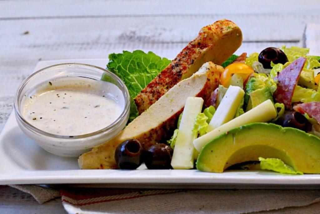Aspen Village chicken salami salad